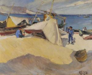 jaudon_rené-pêcheurs_espagnols_près_du_port_d_alt~OM17c300~10153_20080629_12046_102